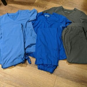 3 sets of Grey's Anatomy scrub sets size small